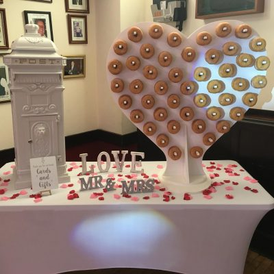 donut wall and postbox
