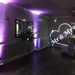 wedding venue lighting hire