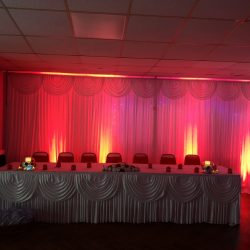 Drape backdrop with lighting