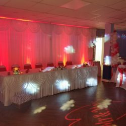 drape backdrop with lighting included