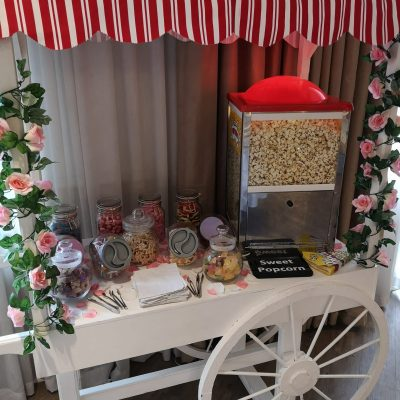 sweet cart and popcorn