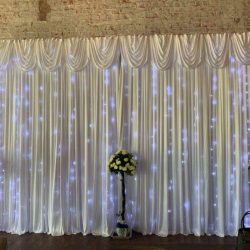 backdrop hire wedding