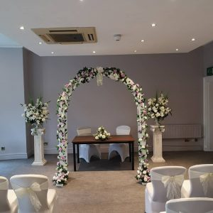 flower arch ceremony